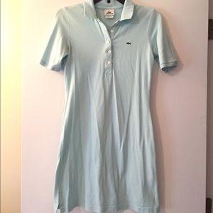 Lacoste shirt dress light blue size S